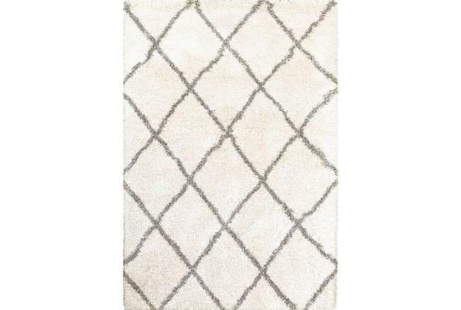 46X65 Rug-Beverly Shag Diamond Ivory - 360