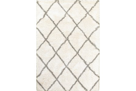 79X114 Rug-Beverly Shag Diamond Ivory