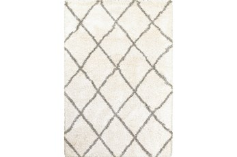94X130 Rug-Beverly Shag Diamond Ivory