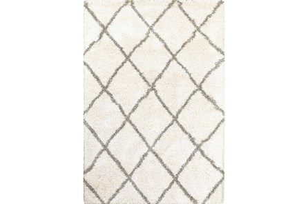 94X130 Rug-Beverly Shag Diamond Ivory - Main