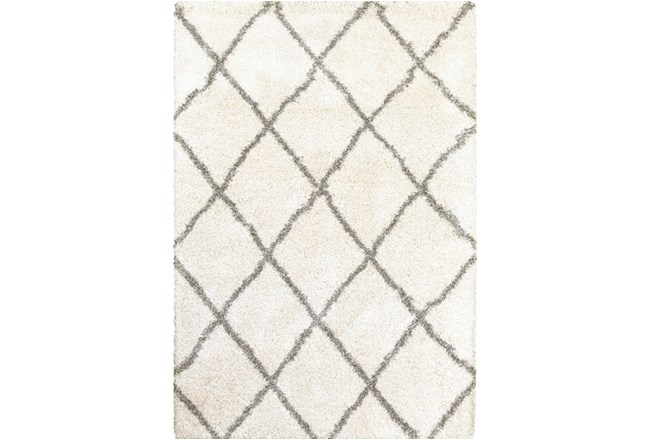 94X130 Rug-Beverly Shag Diamond Ivory - 360