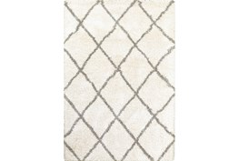 118X154 Rug-Beverly Shag Diamond Ivory