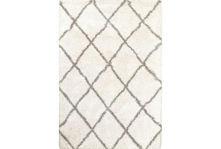 118X154 Rug-Beverly Shag Diamond Ivory