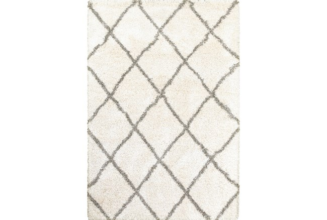 118X154 Rug-Beverly Shag Diamond Ivory - 360