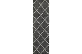 27X90 Rug-Beverly Shag Diamond Graphite