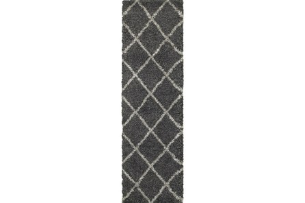 27X90 Rug-Beverly Shag Diamond Graphite