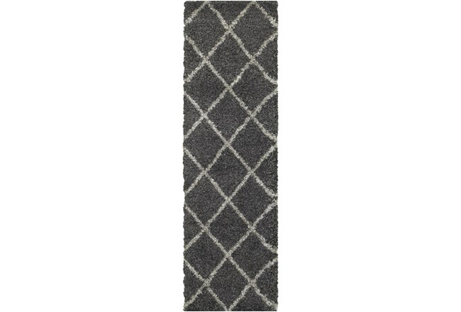 27X90 Rug-Beverly Shag Diamond Graphite - 360