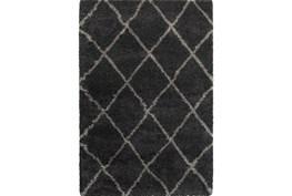 46X65 Rug-Beverly Shag Diamond Graphite