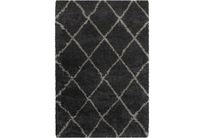 63X90 Rug-Beverly Shag Diamond Graphite - 360