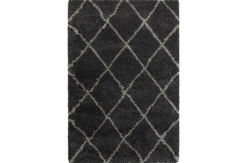 "6'6""x9'5"" Rug-Beverly Shag Diamond Graphite"