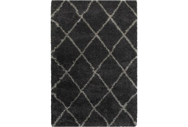 79X114 Rug-Beverly Shag Diamond Graphite - 360