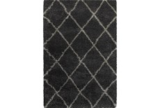 94X130 Rug-Beverly Shag Diamond Graphite