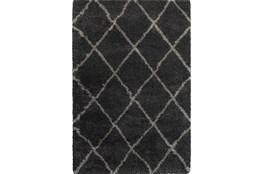 94X130 Rug-Beverly Shag Diamond Graphite