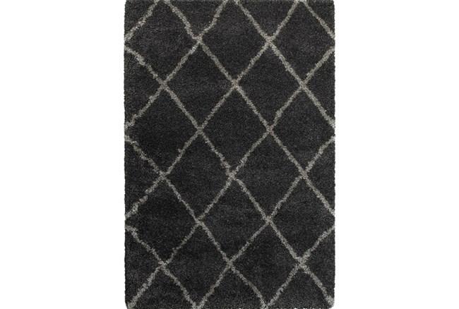 94X130 Rug-Beverly Shag Diamond Graphite - 360