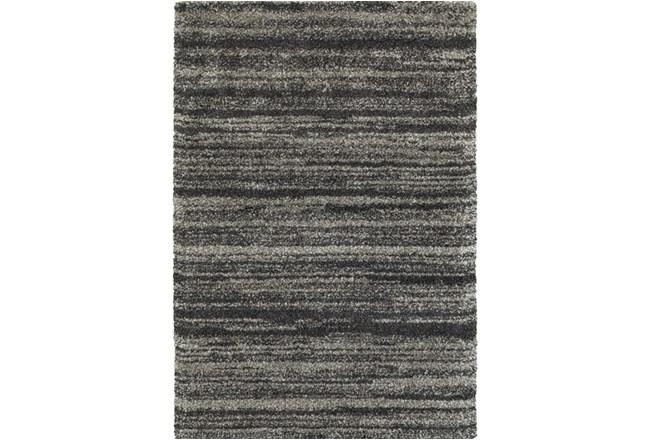 """1'9""""x3'3"""" Rug-Beverly Shag Stripe Grey - 360"""