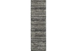 "2'3""x7'5"" Rug-Beverly Shag Stripe Grey"