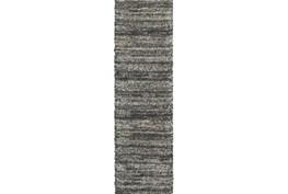 """2'3""""x7'5"""" Rug-Beverly Shag Stripe Grey"""