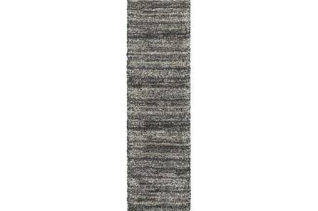 27X90 Rug-Beverly Shag Stripe Grey - Main