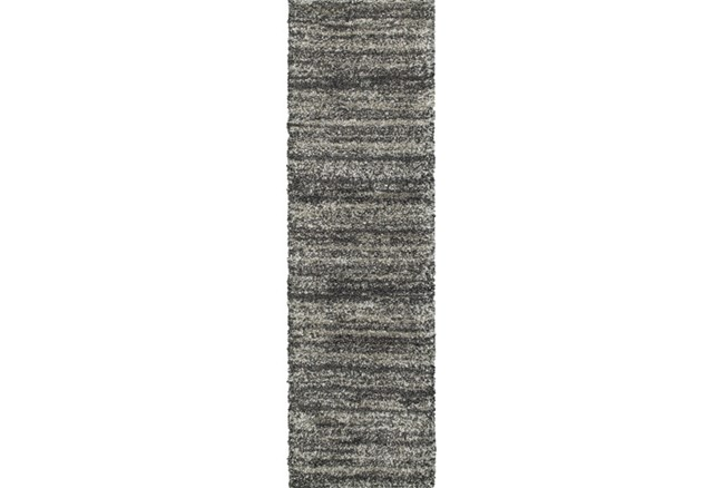 27X90 Rug-Beverly Shag Stripe Grey - 360