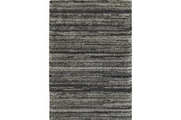 "3'8""x5'4"" Rug-Beverly Shag Stripe Grey"