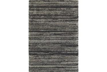 """3'8""""x5'4"""" Rug-Beverly Shag Stripe Grey"""