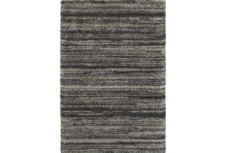 46X65 Rug-Beverly Shag Stripe Grey