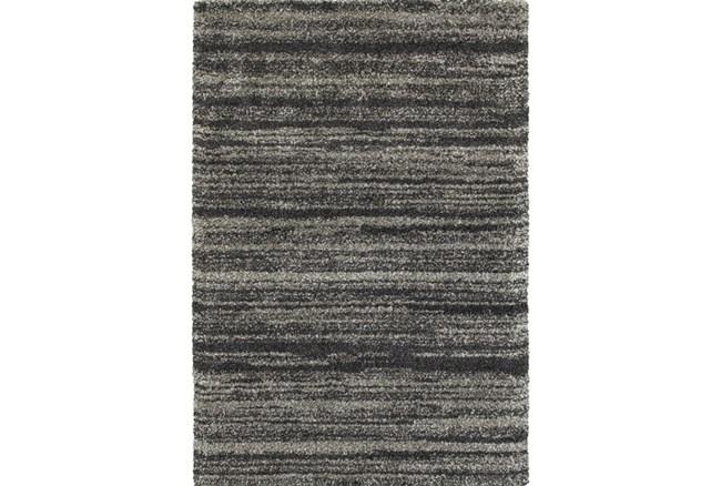 """3'8""""x5'4"""" Rug-Beverly Shag Stripe Grey - 360"""