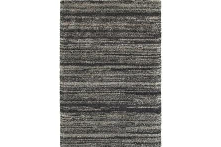 79X114 Rug-Beverly Shag Stripe Grey