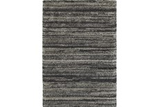 94X130 Rug-Beverly Shag Stripe Grey