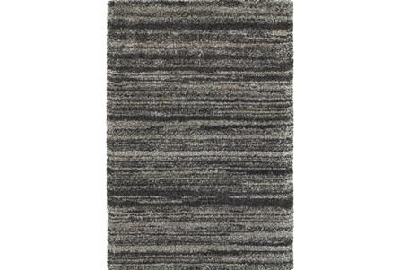 94X130 Rug-Beverly Shag Stripe Grey