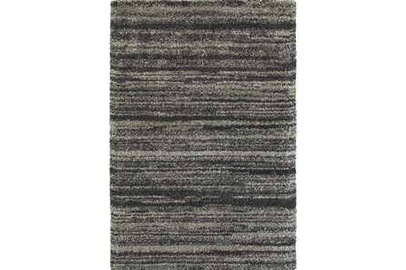 94X130 Rug-Beverly Shag Stripe Grey - Main