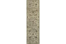 27X90 Rug-Fergus Tapestry Cream