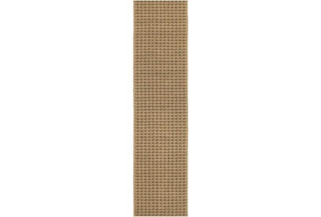 22X90 Outdoor Rug-Gemma Check Brown - 360