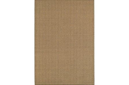 94X130 Outdoor Rug-Gemma Check Brown - Main