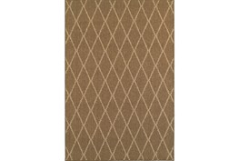 63X90 Outdoor Rug-Gemma Diamond Brown