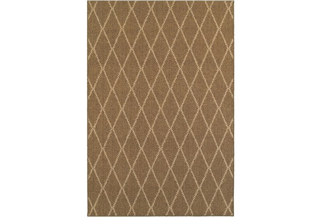 79X114 Outdoor Rug-Gemma Diamond Brown - 360