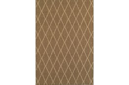 94X130 Outdoor Rug-Gemma Diamond Brown