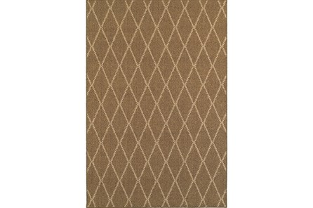 94X130 Outdoor Rug-Gemma Diamond Brown - Main
