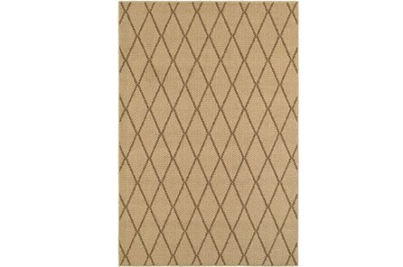 63X90 Outdoor Rug-Gemma Diamond Beige - Main