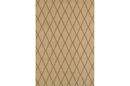 94X130 Outdoor Rug-Gemma Diamond Beige - Main