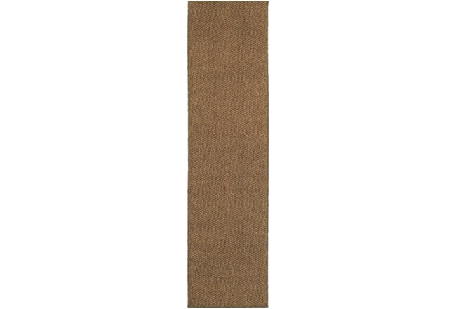 22X90 Outdoor Rug-Gemma Solid Brown - 360
