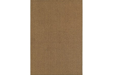 94X130 Outdoor Rug-Gemma Solid Brown - Main