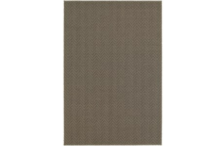 39X60 Outdoor Rug-Gemma Herringbone Grey