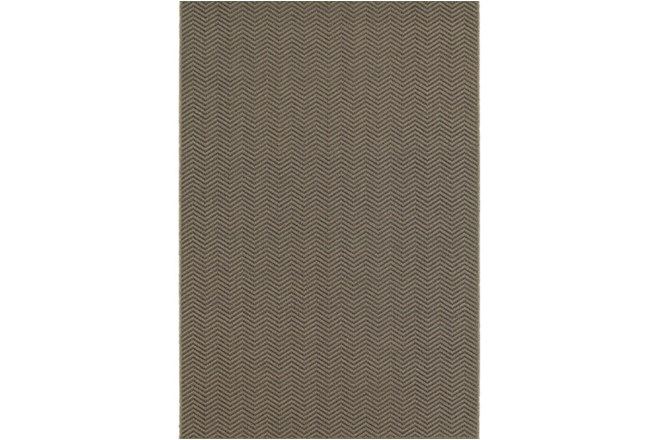 79X114 Outdoor Rug-Gemma Herringbone Grey - 360