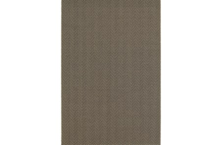 94X130 Outdoor Rug-Gemma Herringbone Grey - Main
