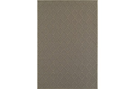 63X90 Outdoor Rug-Gemma Diamond Grey - Main