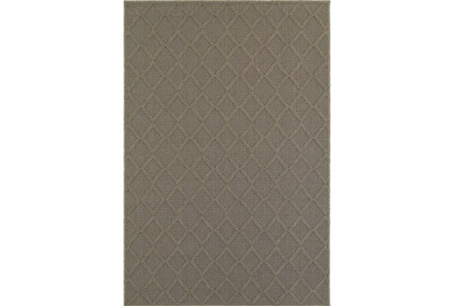 63X90 Outdoor Rug-Gemma Diamond Grey - 360