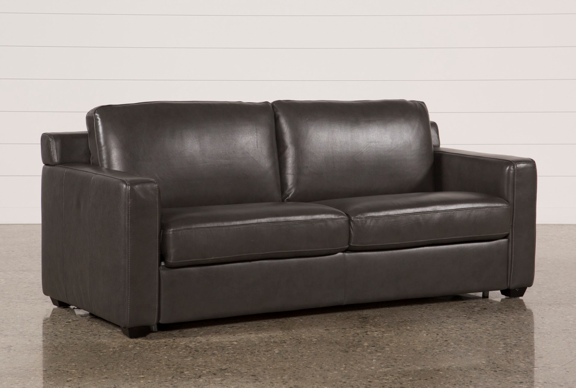 Nolan Leather Dark Grey Sleeper Qty 1 Has Been Successfully Added To Your Cart