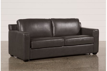Nolan Leather Dark Grey Sleeper - Main