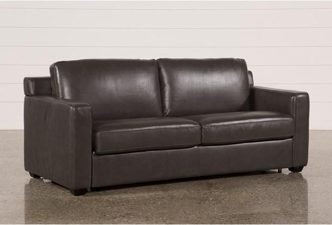Nolan Leather Dark Grey Sleeper 360